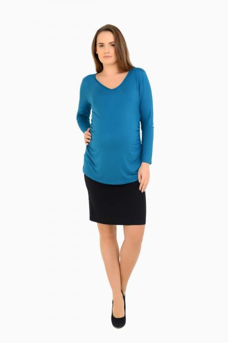 Pencil Skirt and Teal V Neck Top