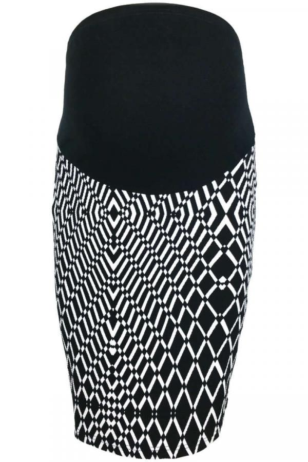 Maternity Patterned Pencil Skirt