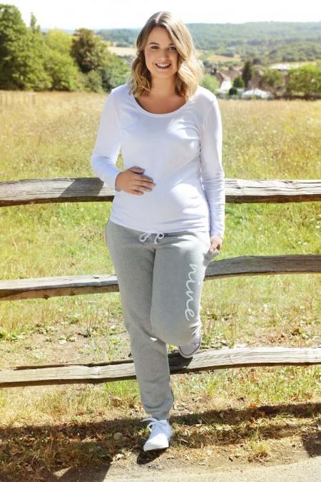 Grey Maternity Joggers
