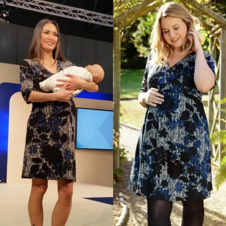 Maternity Crossover Dress