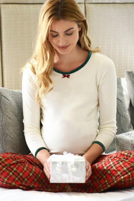 Maternity Tartan Pyjama PJ Set