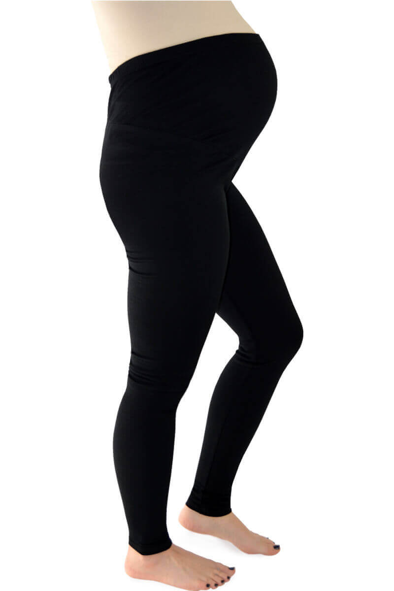 Maternity Leggings with Bump Panel