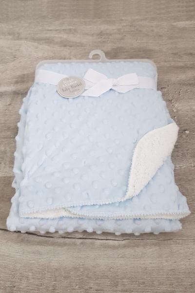 Blue Baby Super Soft Bubble Blanket