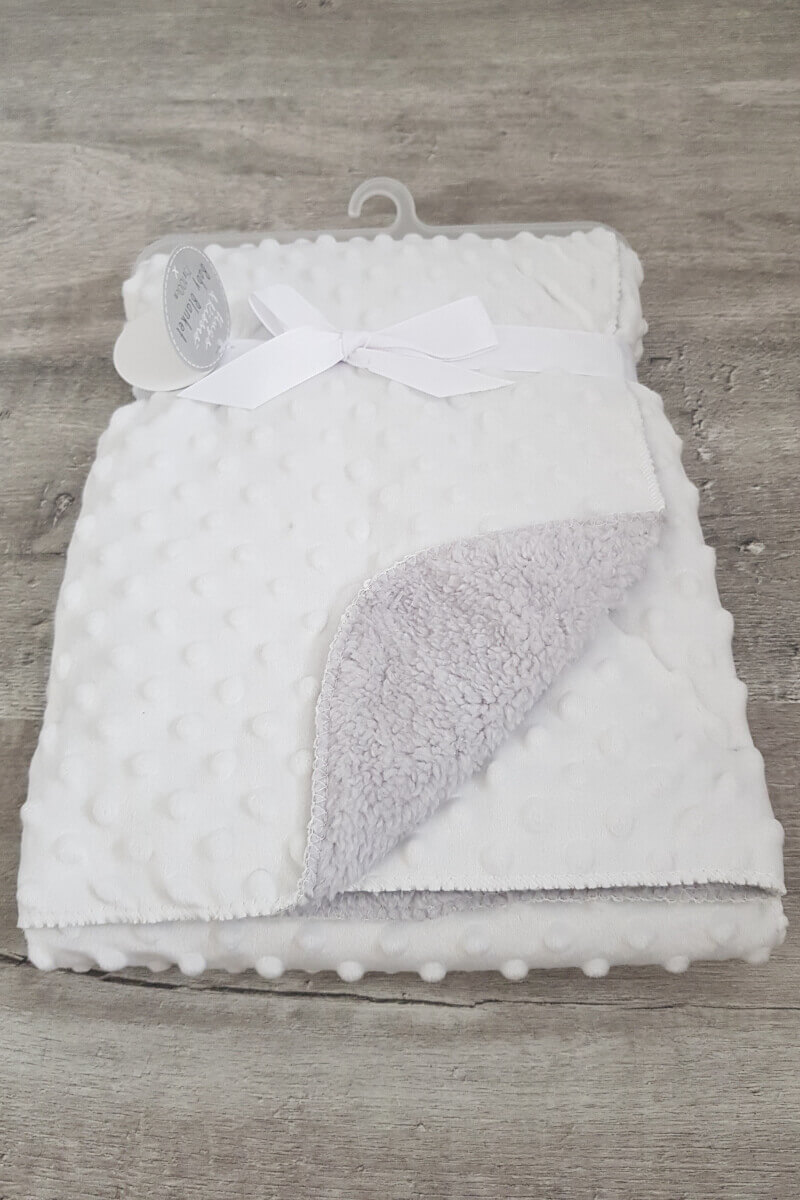 Ivory Baby Super Soft Bubble Blanket