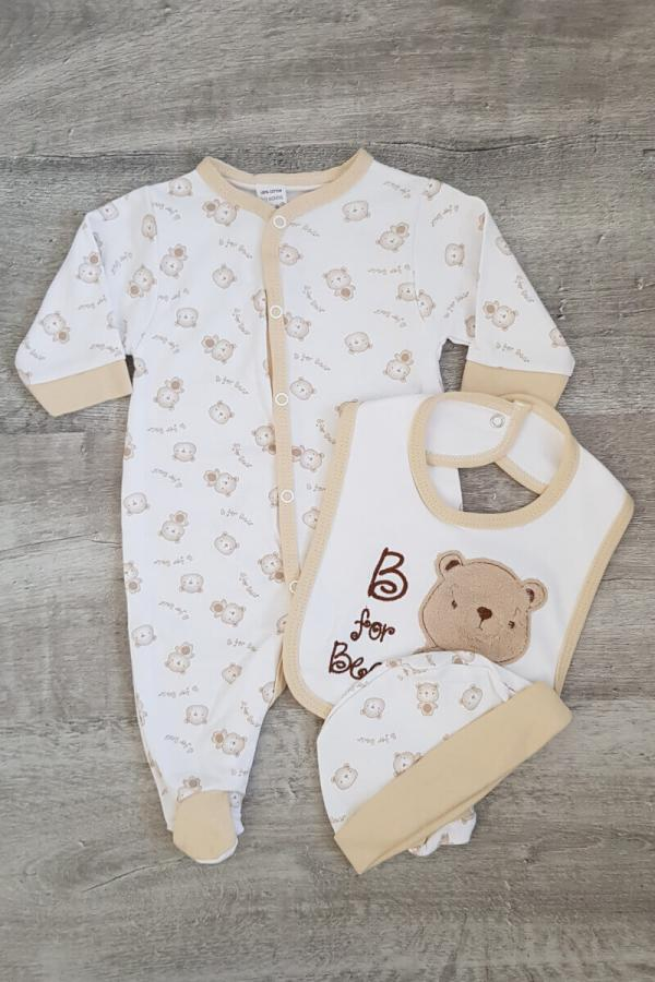 """B is for Bear"" Baby 3 Piece Set"