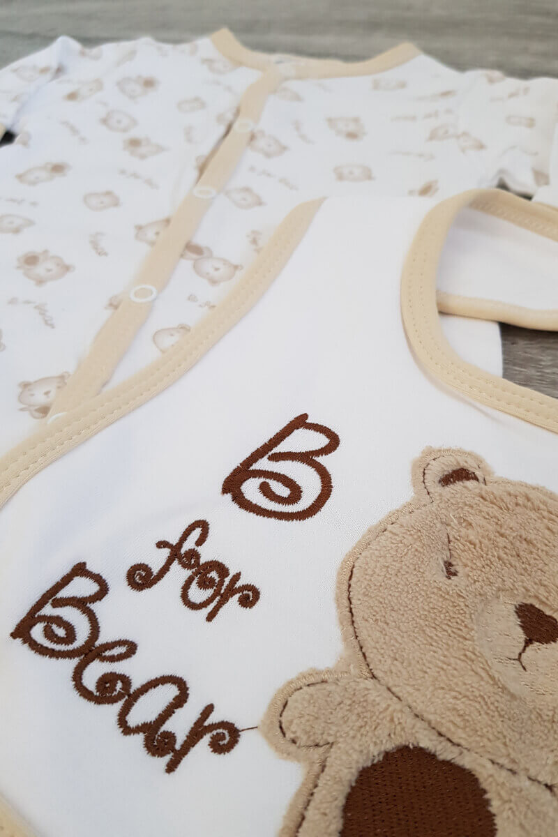 """""""B is for Bear"""" Baby 3 Piece Set"""