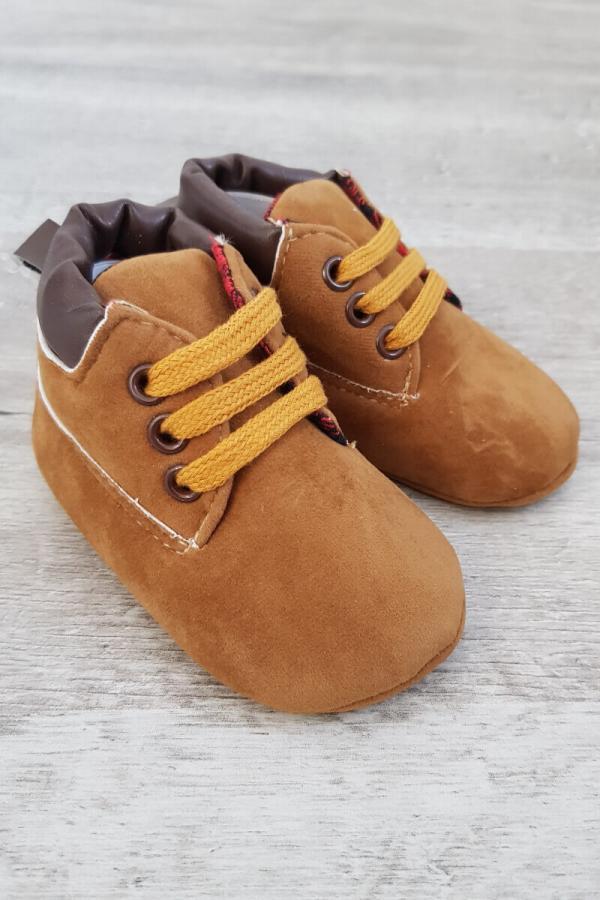 Brown Baby Booties