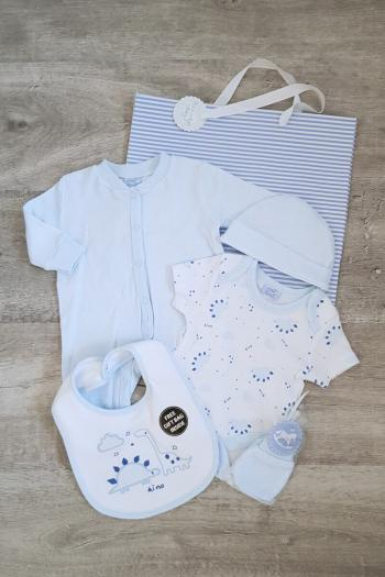 Blue Dino 5 Piece Baby Set
