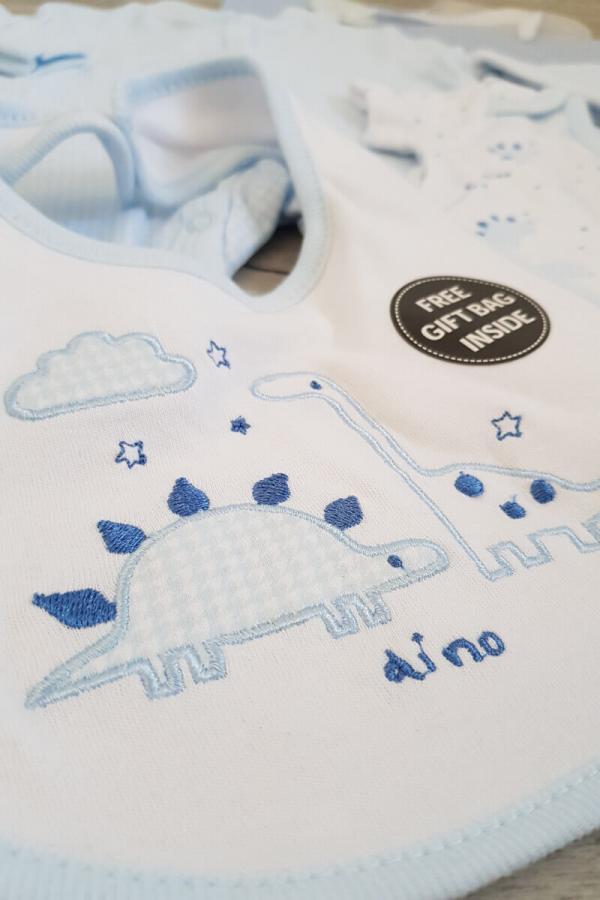 Blue Dino 5 Piece Baby Set