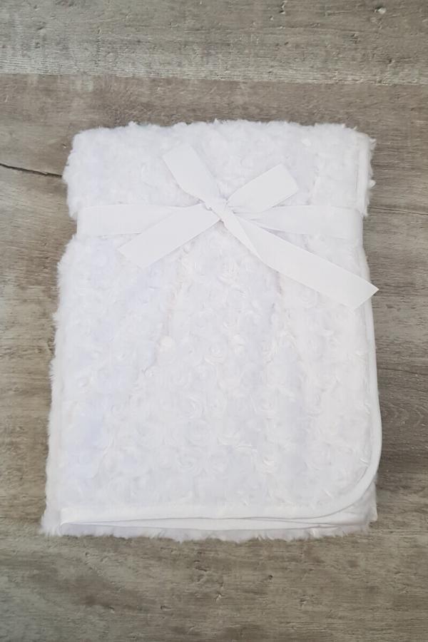 Super Soft Rosebud Baby Blanket