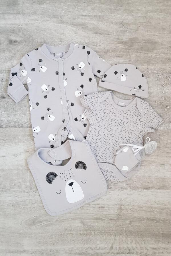 Baby Bear Grey 5 Piece Set