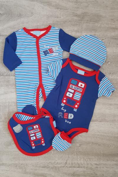 Baby Little Red Bus 5 Piece Set