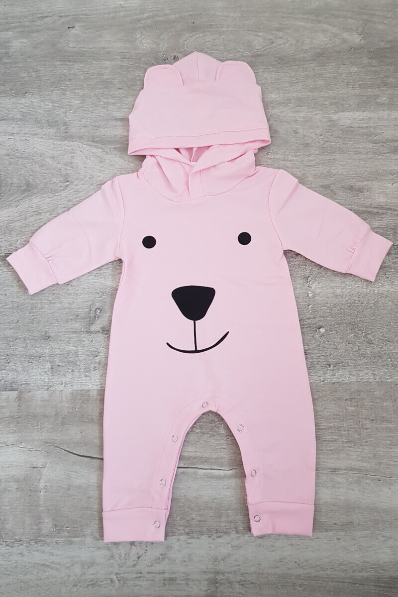 Baby Bear Pink All In One
