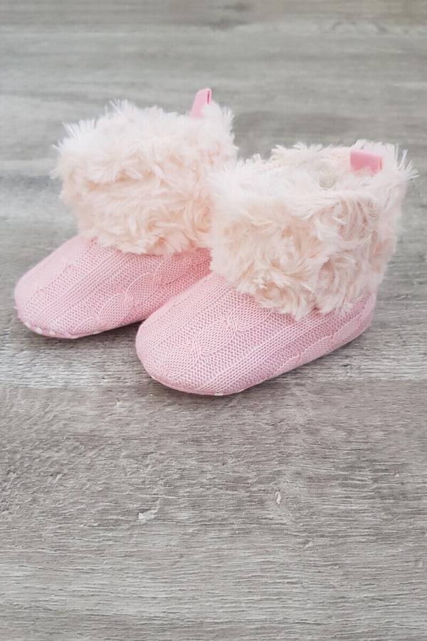 Baby Girl Pink Booties