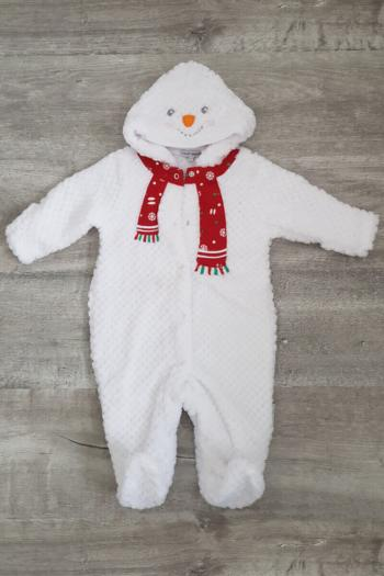 Baby Snowman Fleece Pramsuit