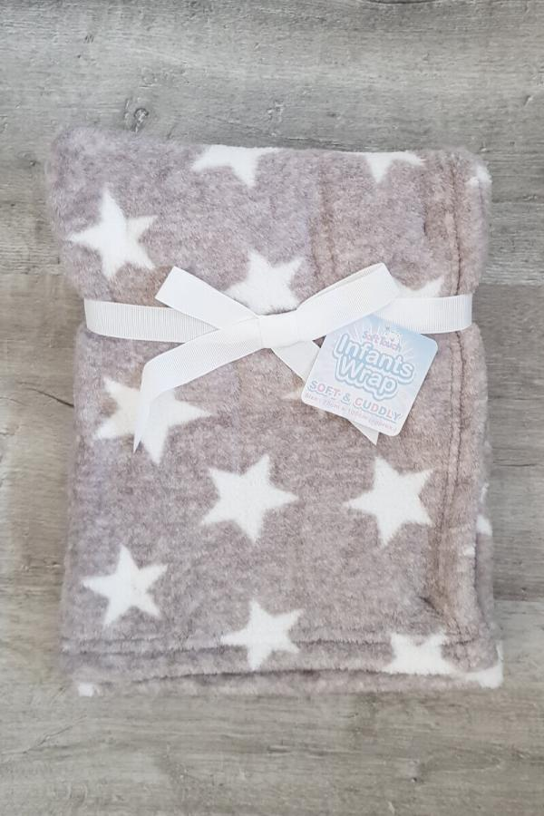 Grey with Stars Soft and Cuddly Wrap