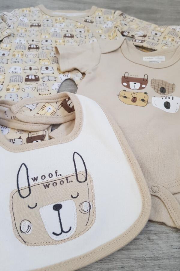 """Woof Woof"" 4 Piece Baby Set"