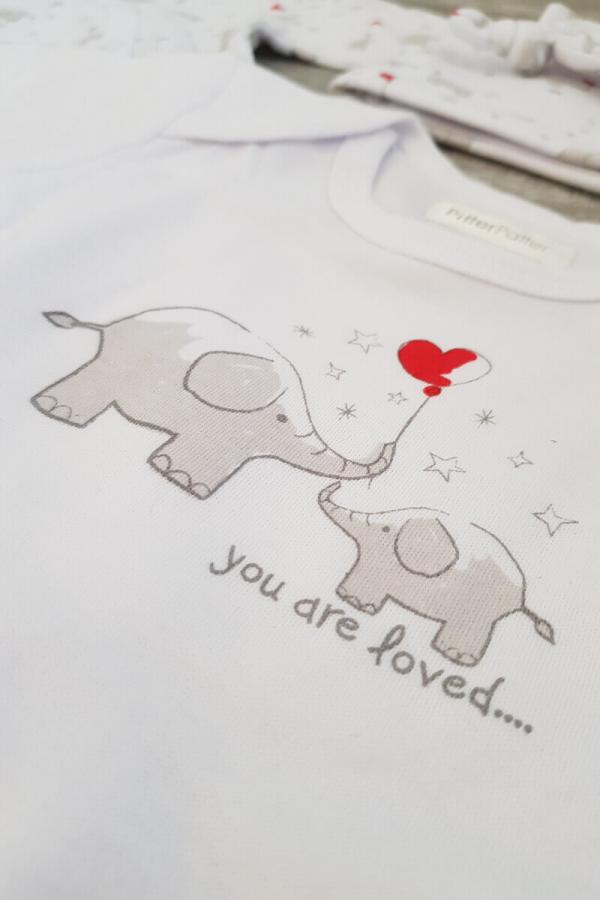 "Baby ""You Are Loved"" Elephants 4 Piece Set"