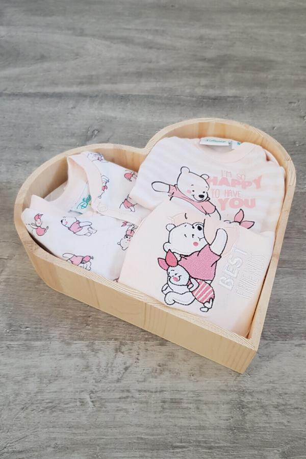 New Baby Girl Disney Heart Gift Box