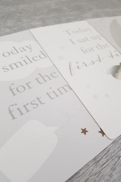 New Baby Milestone Card Set
