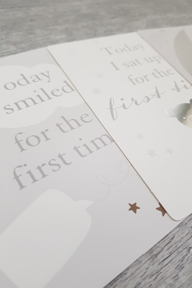 New Baby Milestone Card Set