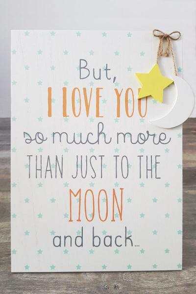 Love You To The Moon And Back Wallart