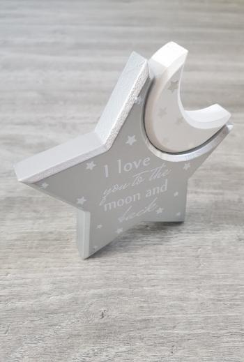 Nursery Love You To The Moon Wooden Keepsake
