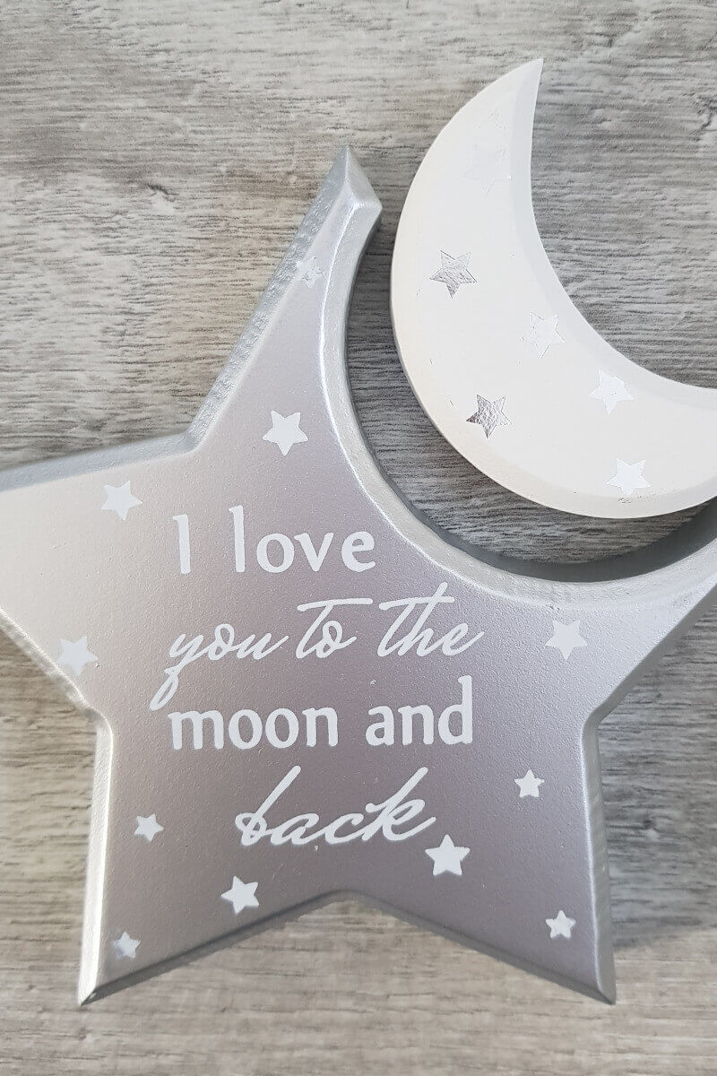 Nursery Love You To The Moon Wooden Keepsake
