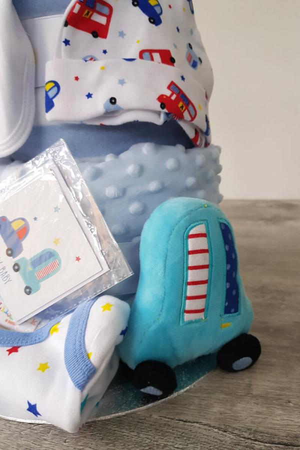 Blue Cars Celebration Gift Cake