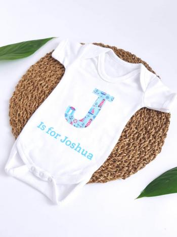 Blue Initial Letter Vest - J is for Joshua