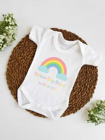 Rainbow Baby Announcement Vest