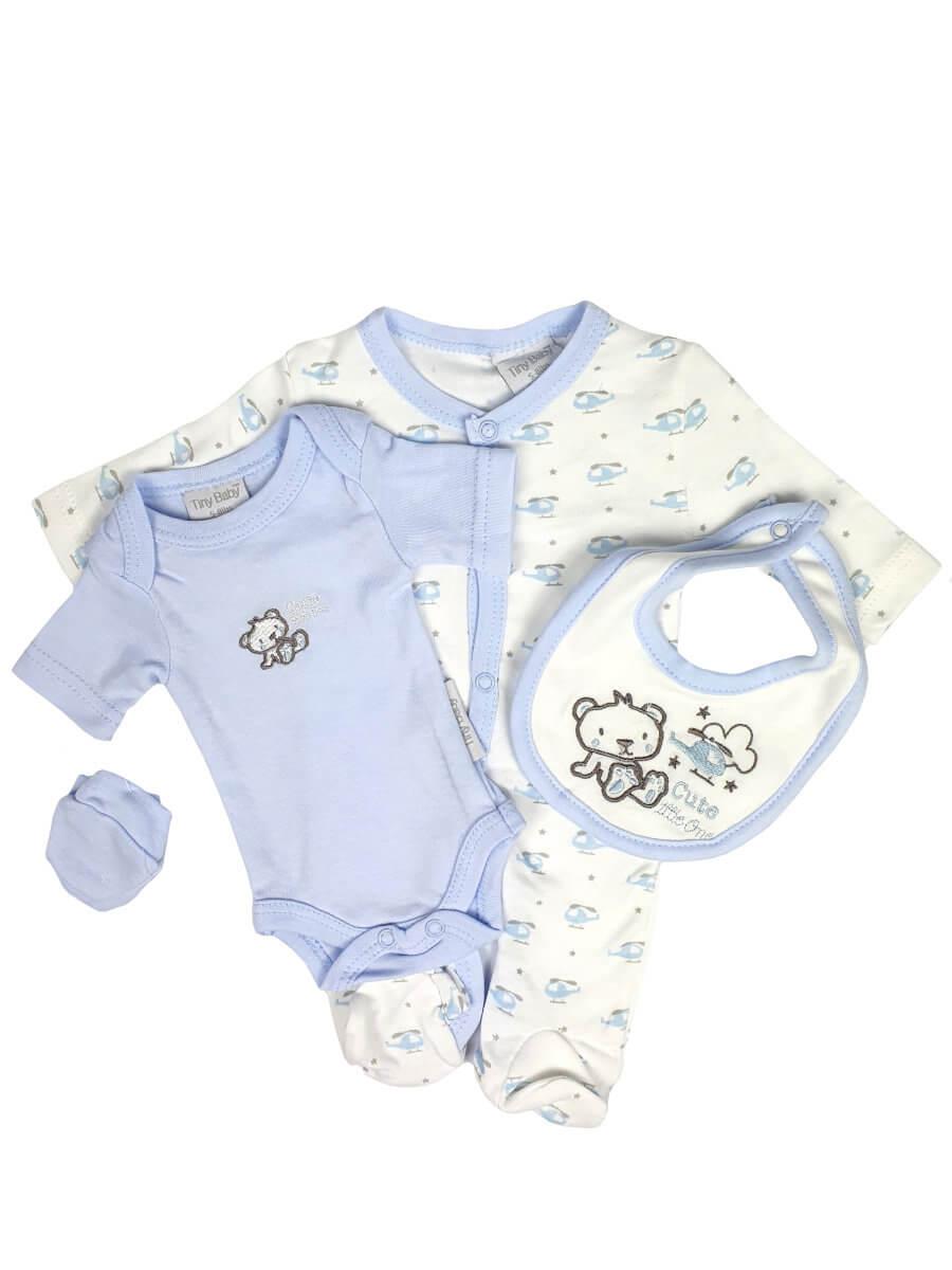 Premature Baby Cute Little One Blue 4 Piece Set