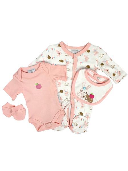 Premature Baby I Love Cuddles Pink 4 Piece Set