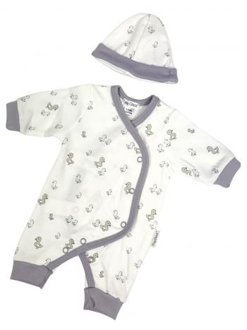 Premature Baby Little Duck All-In-One & Hat Set