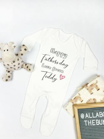 Fathers day text babygrow 2020