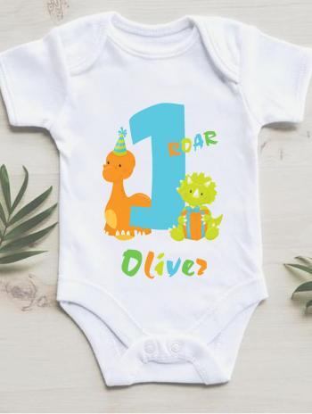 Dino 1st Birthday vest