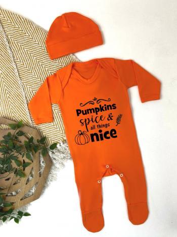 Pumpkin Spice Halloween Babygrow