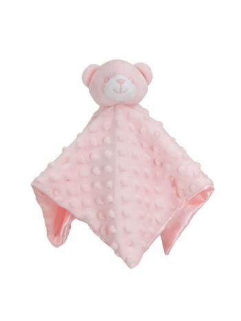 Little Bear Baby Comforter in Pink