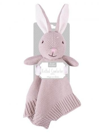 Knitted Bunny Comforter