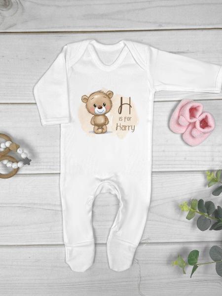 Little Brown Bear Personalised Babygrow