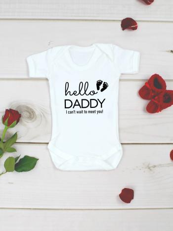Hello Daddy Baby Announcement Vest