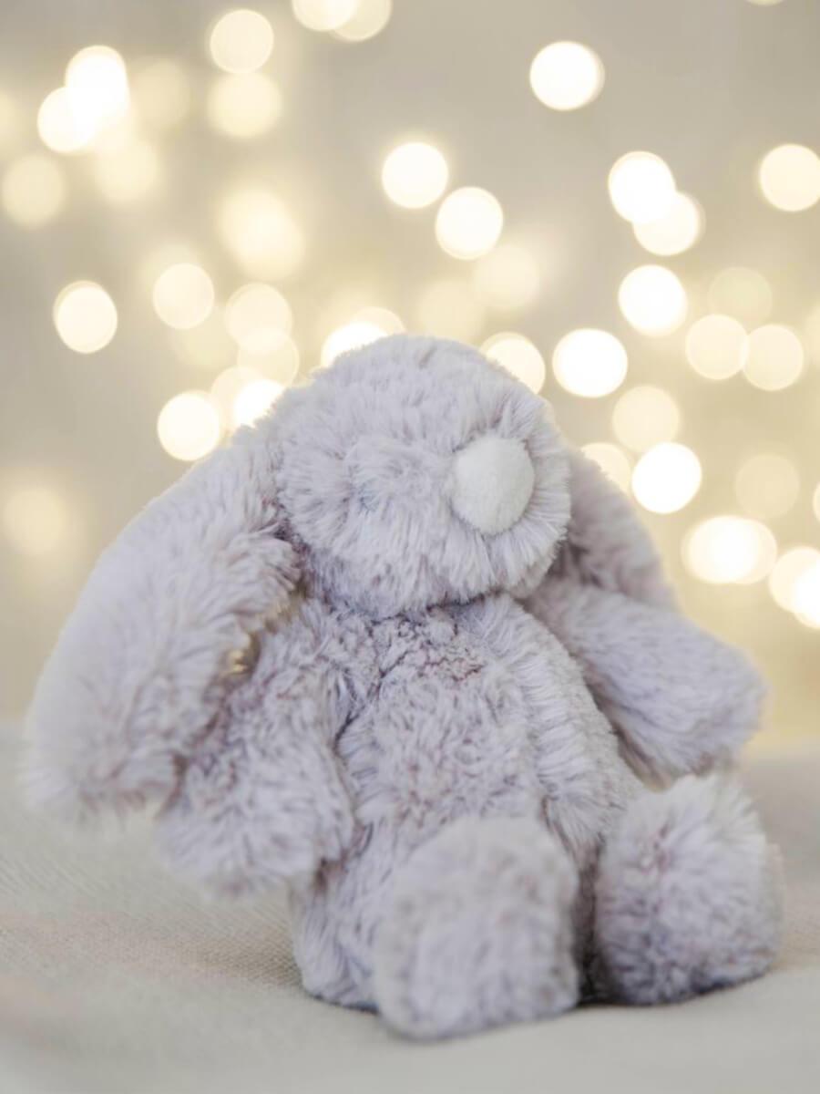 Bambino Grey Plush Rabbit Small 13cm