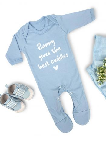 Nanny Gives The Best Cuddles Blue - sweet purple NANBESTCUDDLE
