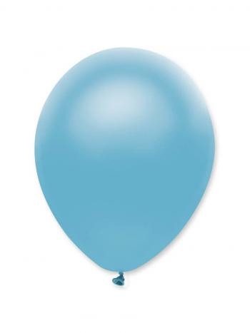 Sky Blue Pearlescent Solid Colour Latex Balloons Bulk