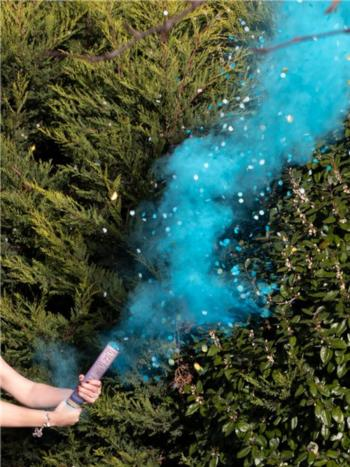GENDER REVEAL BLUE SMOKE CANNON