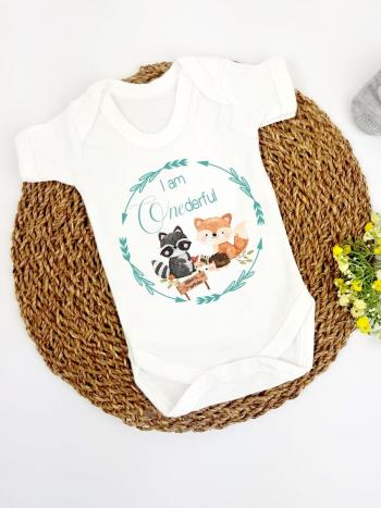Woodland Animals Onederful 1st Birthday Vest Outfit