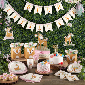 Deer little one themed baby shower decorations and party supplies