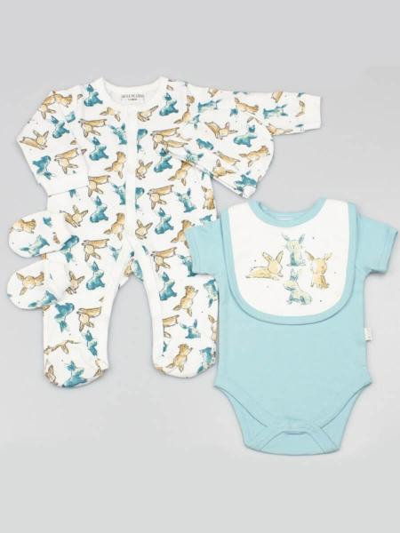 Little Bunnies 5 Piece Baby Clothing Set