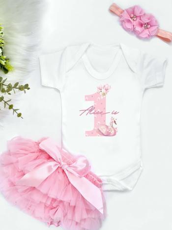 Swan Number Birthday Vest and Pink Tutu