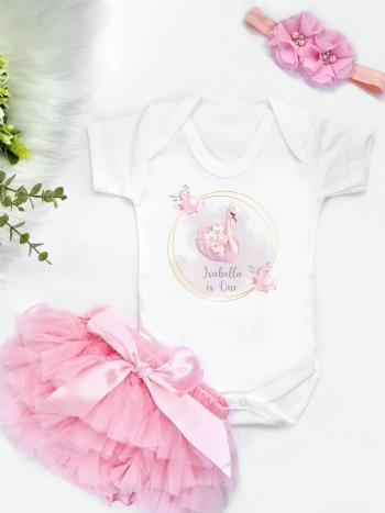 Swan Ring Birthday Vest and Pink Tutu